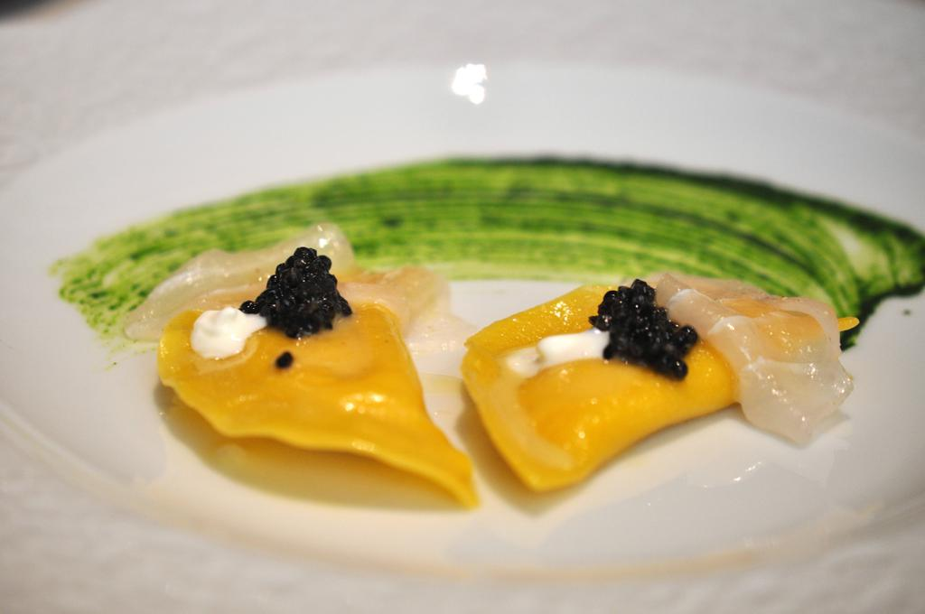 Ravioli di crema brulè, Casa Perbellini, Chef Giancarlo Perbellini, Verona