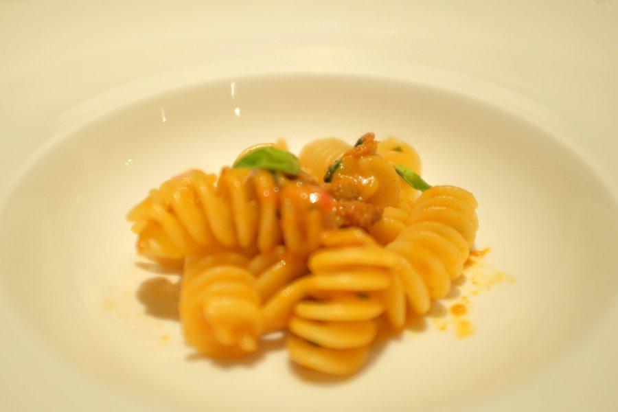 Fusilloni, ndujia, pecorino e ricci di mare: Luca Abruzzino, Antonio Abruzzo., Passione Gourmet