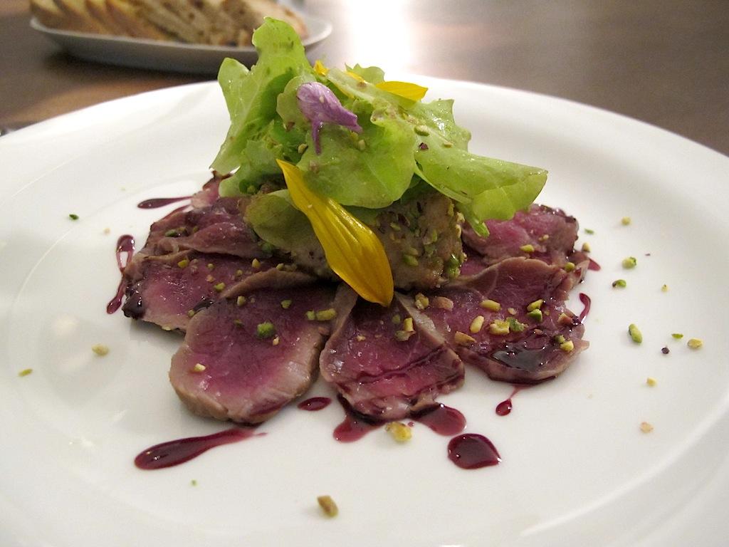 lombo di agnello affumicato, Antonello Colonna Vallefredda Resort, Chef Antonello Colonna, Labico