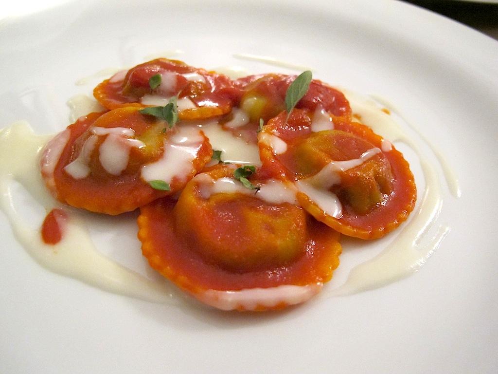 ravioli di cannellone, Antonello Colonna Vallefredda Resort, Chef Antonello Colonna, Labico