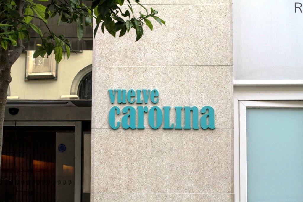 insegna, Vuelve Carolina, Tapas Bar, Valencia, Spagna