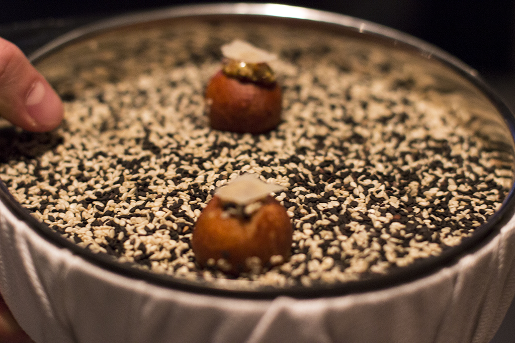 amuse bouche, Akrame, Chef Akrame Benallal, Paris, France