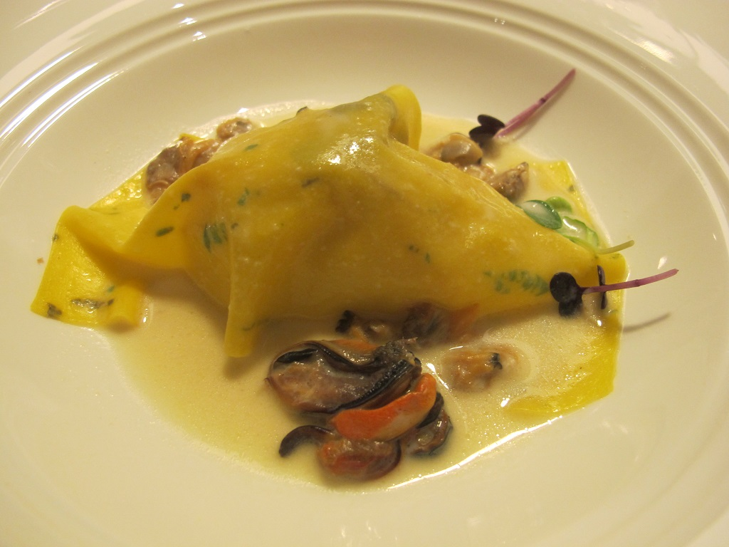 pane pasta e molluschi, L'Erba del Re, Chef Luca Marchini, Modena