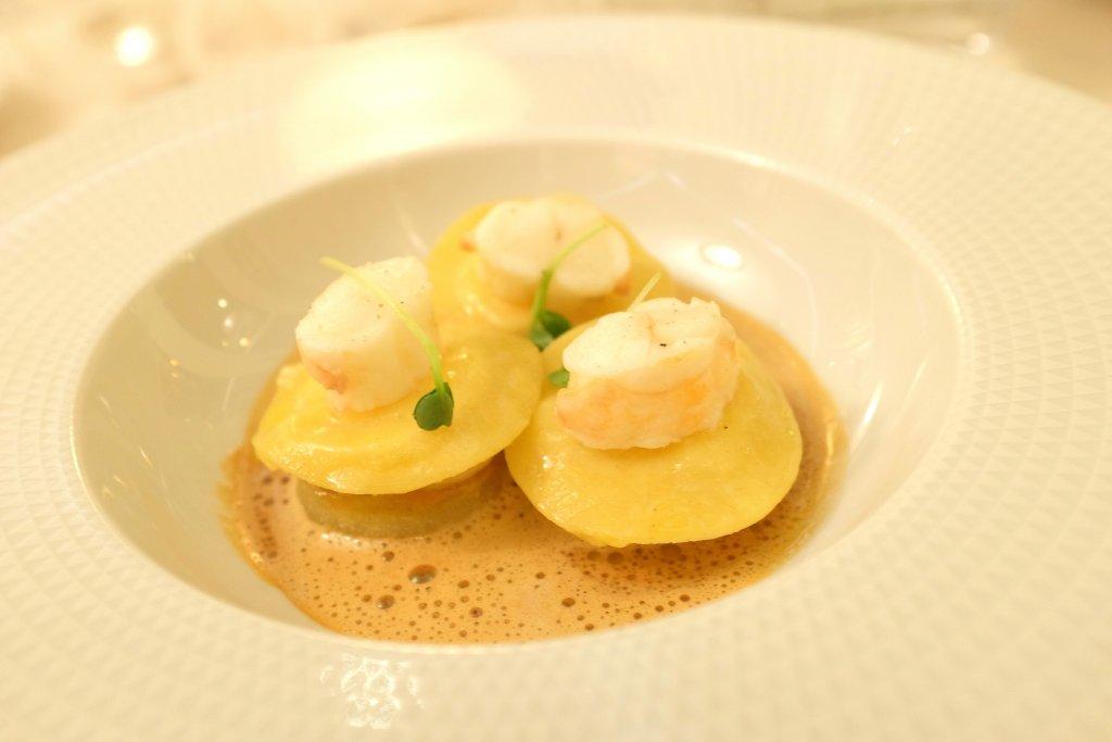 Ravioli di scampo, Villa Archange, Chef Bruno Oger, Le Cannet, France