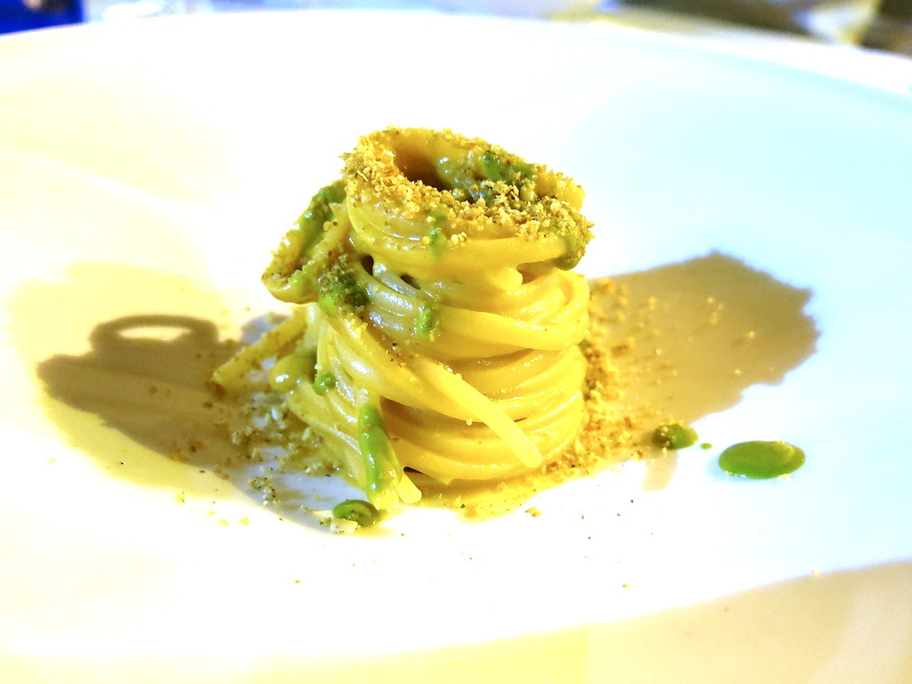 linguine con acciughe, Accursio, Chef Accursio Craparo, Modica, Sicilia