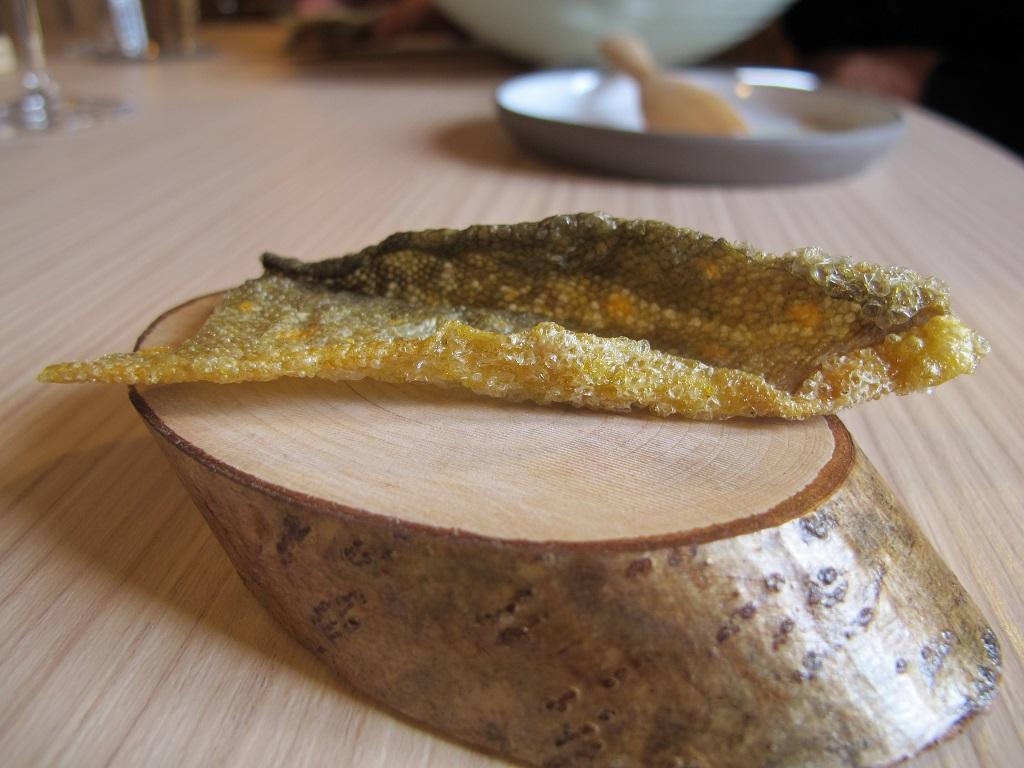 pelle croccante di salmerino, AGA, Chef Oliver Piras, San Vito di Cadore