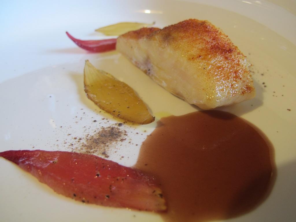 Storione in saor, AGA, Chef Oliver Piras, San Vito di Cadore