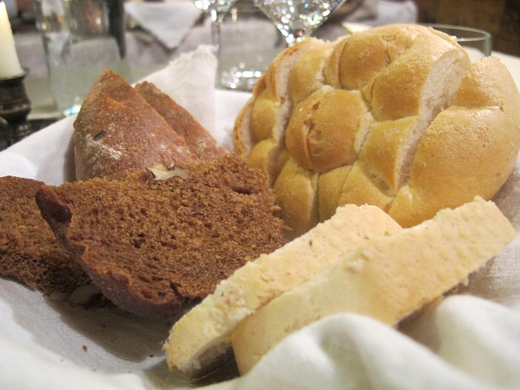 pane, El Brite de Larieto, Chef Riccardo Gaspari, Cortina d'Ampezzo