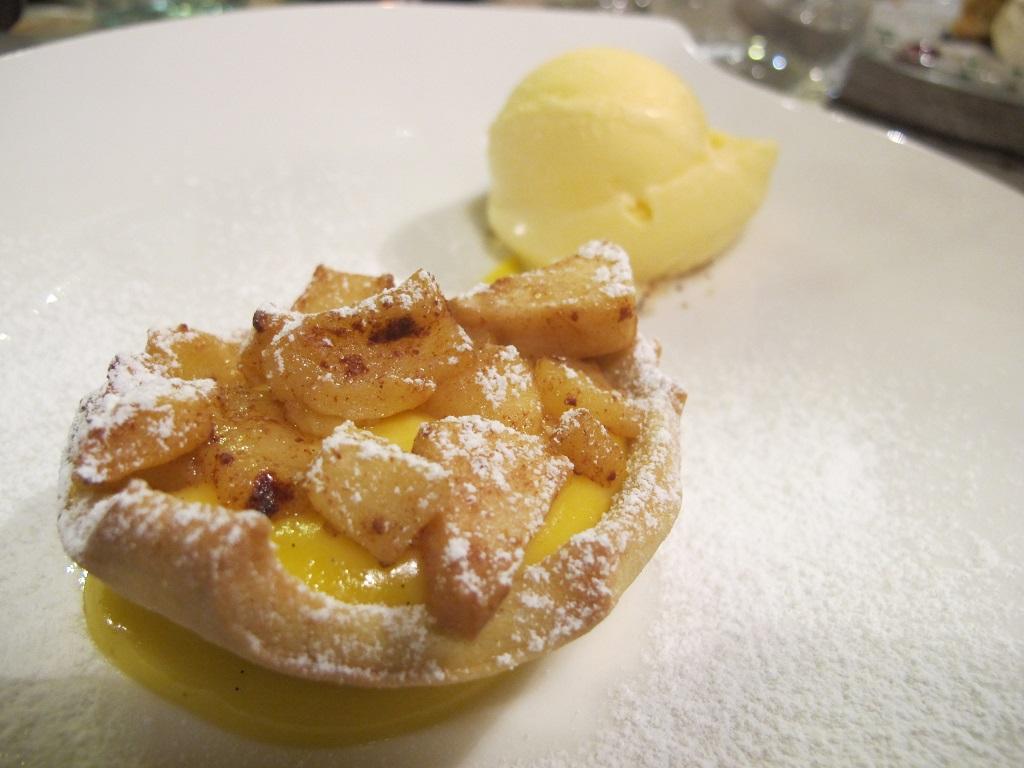 crostatina di mele, El Brite de Larieto, Chef Riccardo Gaspari, Cortina d'Ampezzo