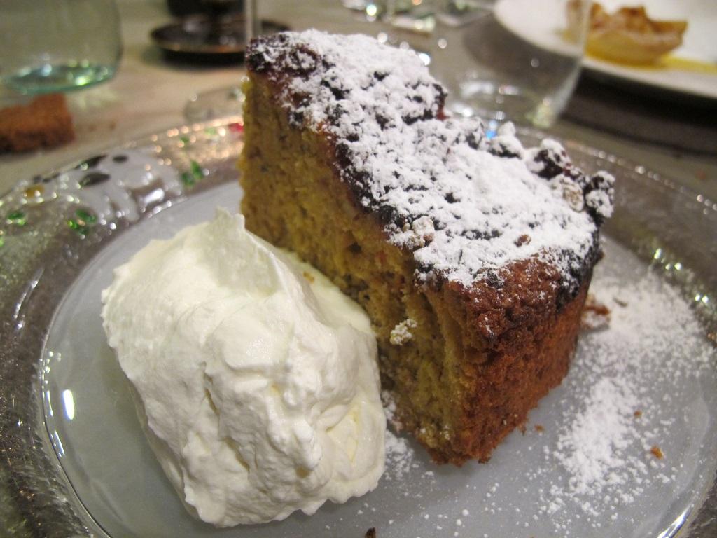 torta linzer con panna montata, El Brite de Larieto, Chef Riccardo Gaspari, Cortina d'Ampezzo