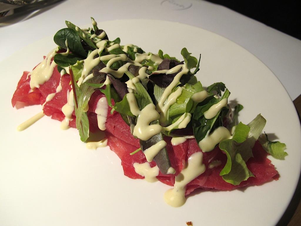 manzo marinato alle erbe, Spazio Eataly, Chef Niko Romito, Roma