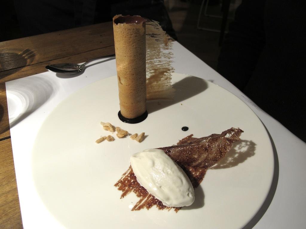 cialda di lingua di gatto, Spazio Eataly, Chef Niko Romito, Roma