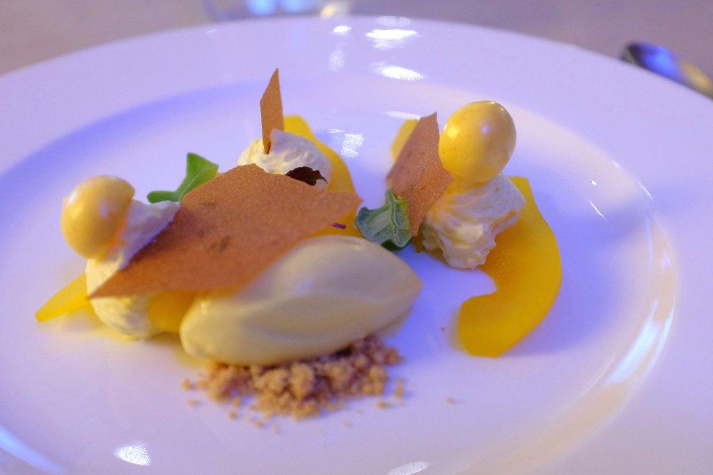 dessert, zafferano, Il Salumaio di Montenapoleone, Chef Mario Capitaneo, Lugano