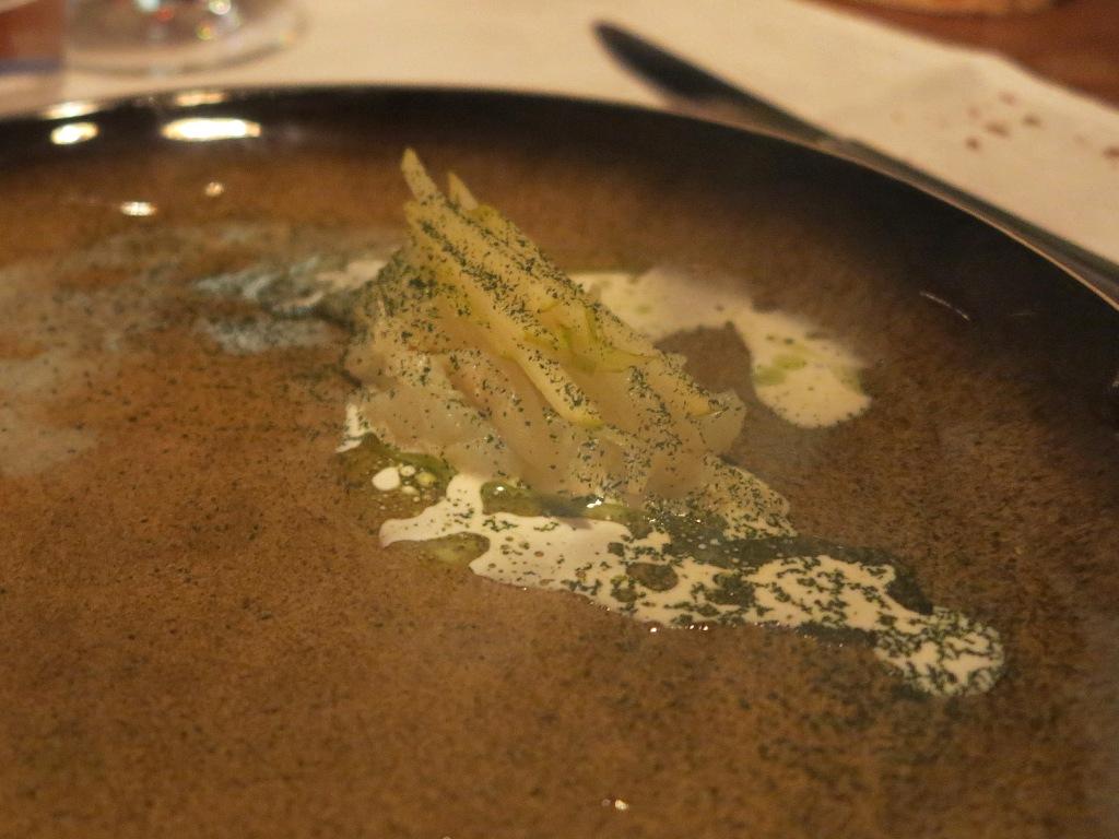 baccalà crudo, 28 Posti, Chef Marco Ambrosino, Milano