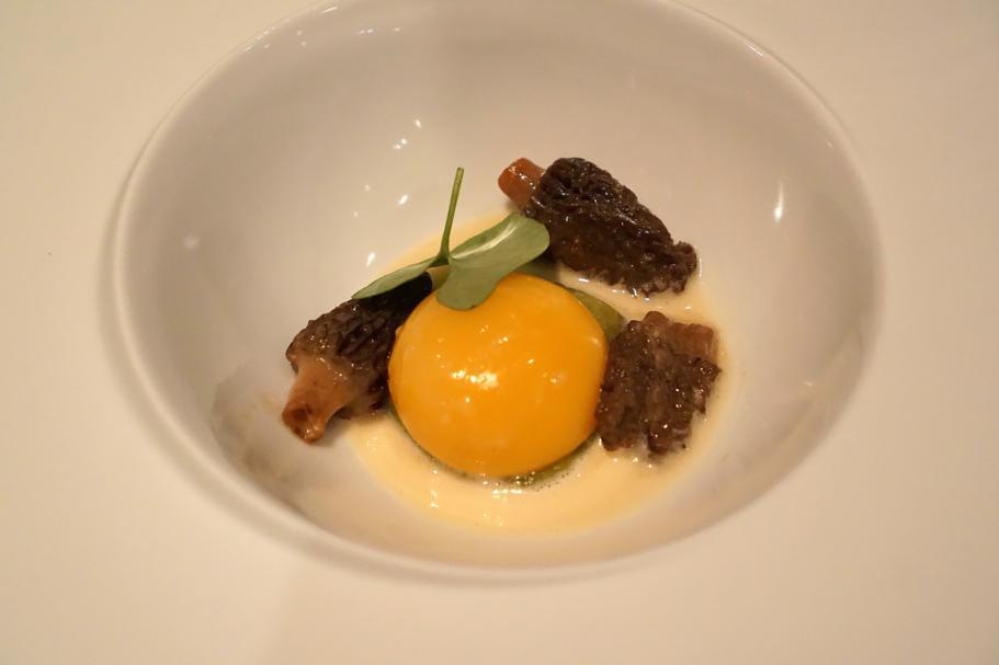 Spugnole, uovo cotto, Hedone, Chef Mikael Jonsson, Londra