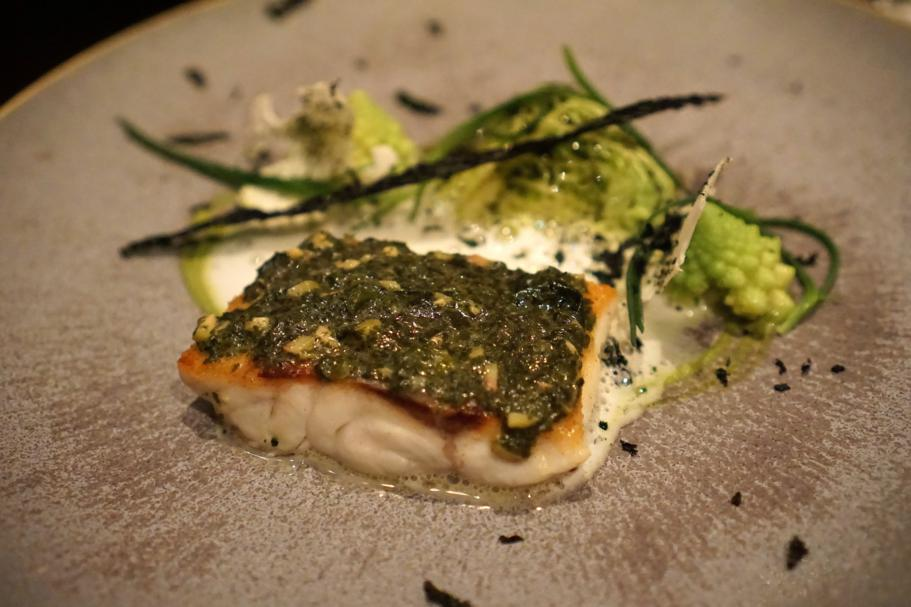 Filetto di Spigola, The Ledbury, Chef Brett Graham, Notting Hill, Londra