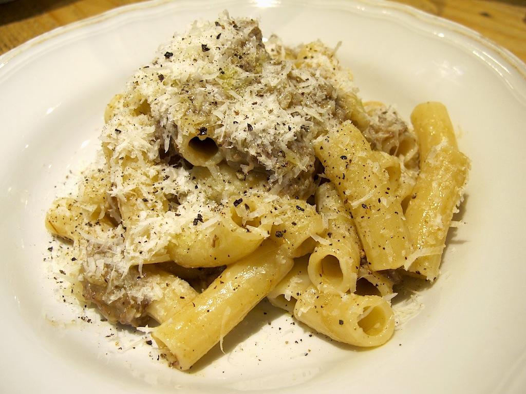 Tortiglioni alla genovese, Mazzo Laboratorio di cucina, Chef Francesca Barreca, Marco Baccanelli, Roma