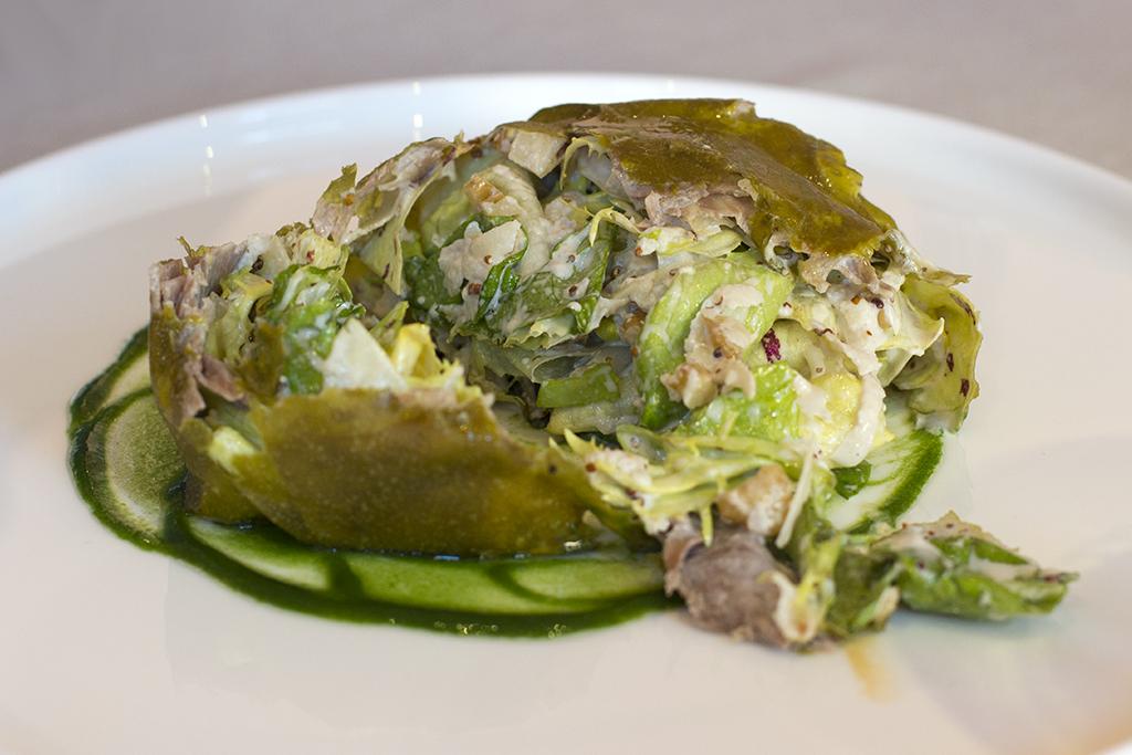 insalata di vignaiolo, Piazza Duomo, Chef Enrico Crippa, Alba