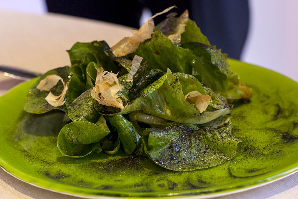 insalata affumicata, Piazza Duomo, Chef Enrico Crippa, Alba