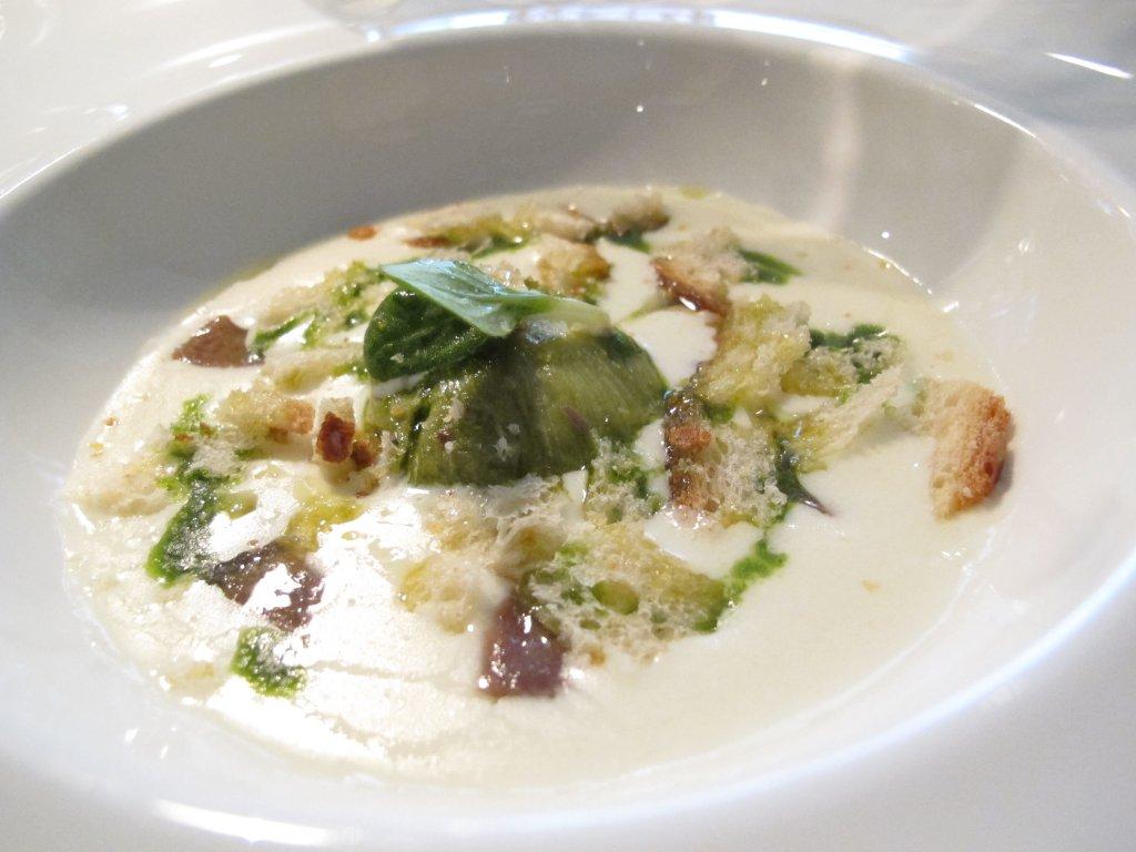scarola fonduta, Il Saraceno, Chef Roberto Proto, Caveranno, Bergamo