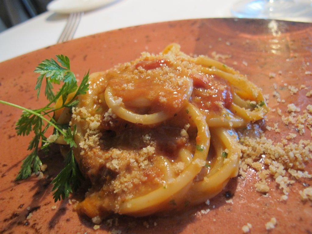 spaghetto ai ricci di mare, Il Saraceno, Chef Roberto Proto, Caveranno, Bergamo