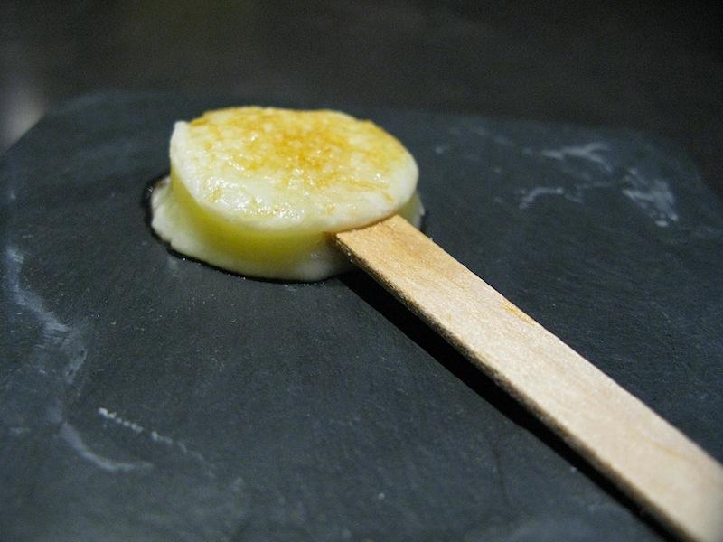 lecca lecca di provolone gratinato, Takazawa, Chef Yoshiaki Takazawa, Tokyo