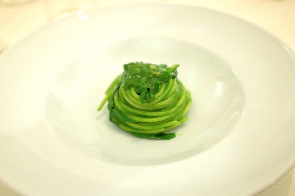 spaghetti alle cime di rape, Osteria Arbustico, Chef Cristian Torsiello, Valva, Salerno