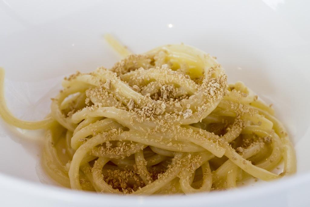 spaghetto burro e lievito, Lido 84, Chef Riccardo Camanini, Gardone Riviera, Brescia