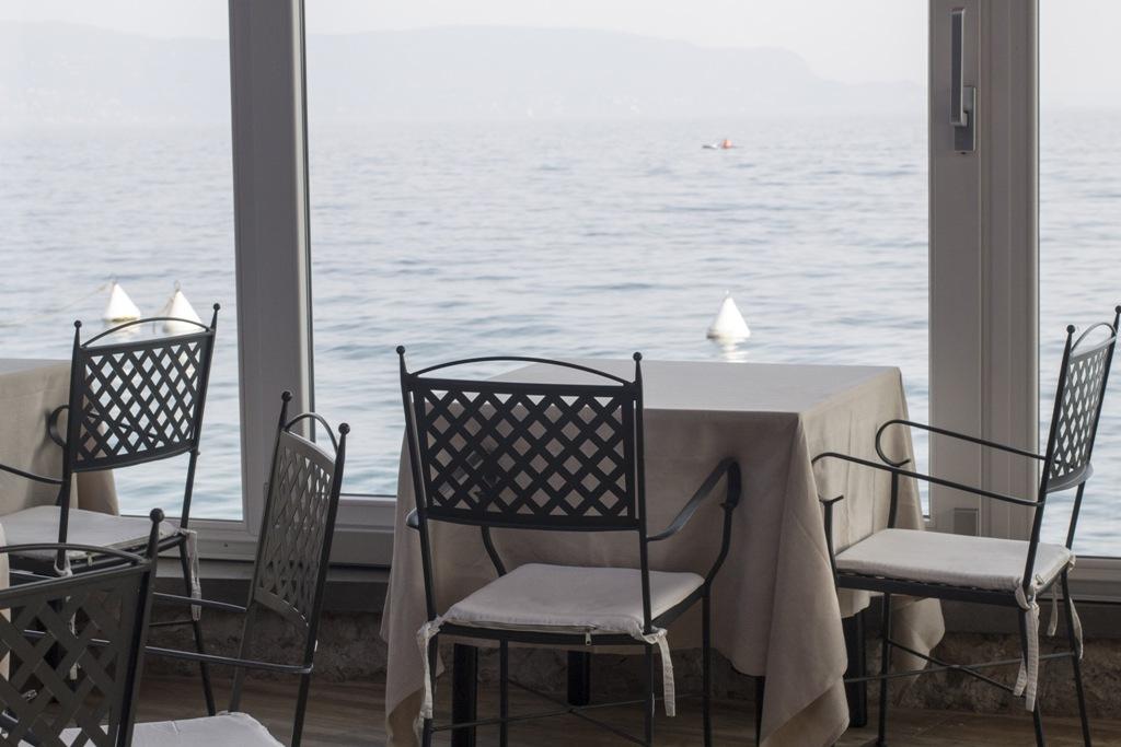 tavoli della sala, Lido 84, Chef Riccardo Camanini, Gardone Riviera, Brescia