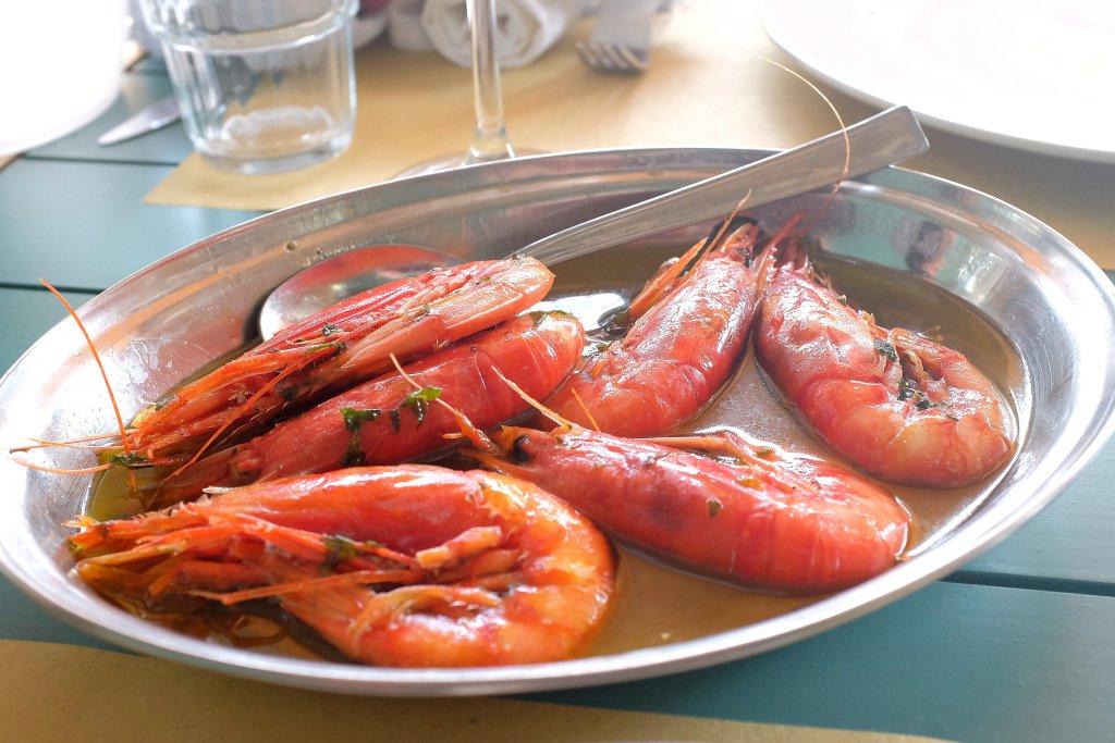 Gamberi alla pescatora, Oasi Beach Osteria del Mare, Licata