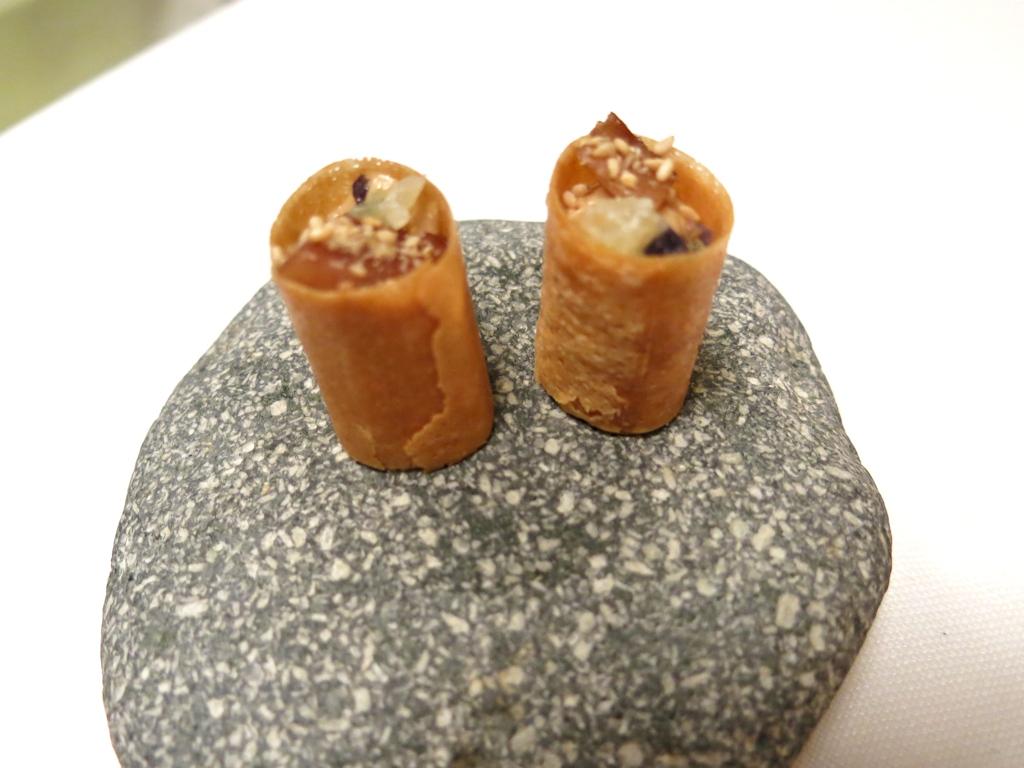 cannolo di foie gras, Il Pagliaccio, Chef Anthony Genovese, Roma