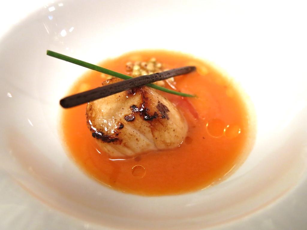 capesante, carote, zenzero, Il Pagliaccio, Chef Anthony Genovese, Roma