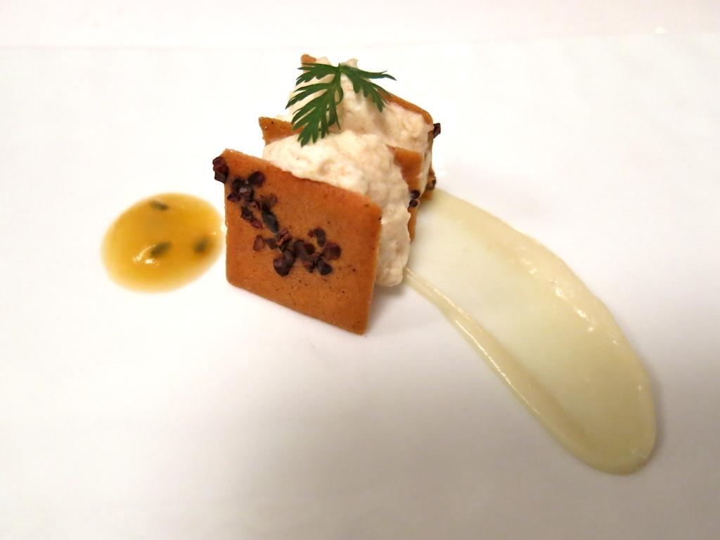 snack di formaggio, Il Pagliaccio, Chef Anthony Genovese, Roma