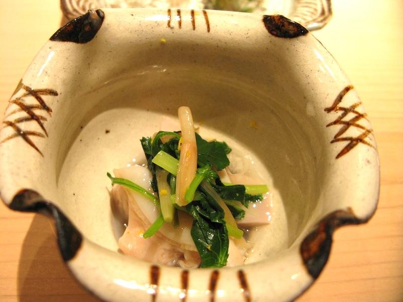 vongola, Sushi Yoshitake, Chef Masahiro Yoshitake, Tokyo