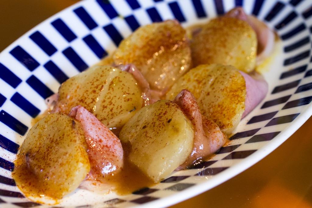 spalla di maiale con patate confit, Tickets, Chef Albert Adrià, Barcelona, Spagna
