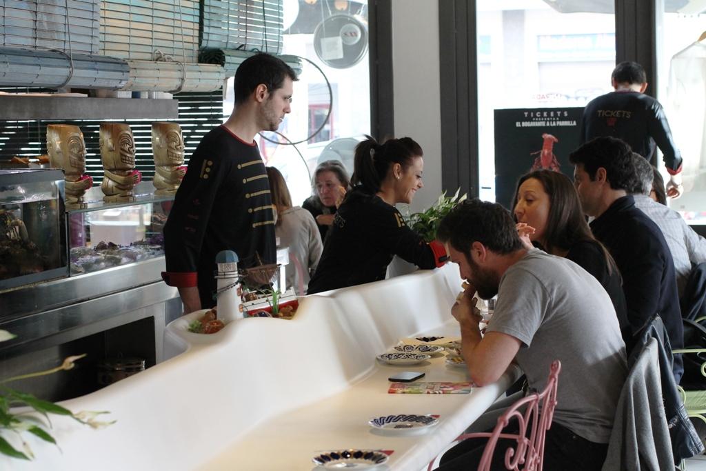 bancone, Tickets, Chef Albert Adrià, Barcelona, Spagna
