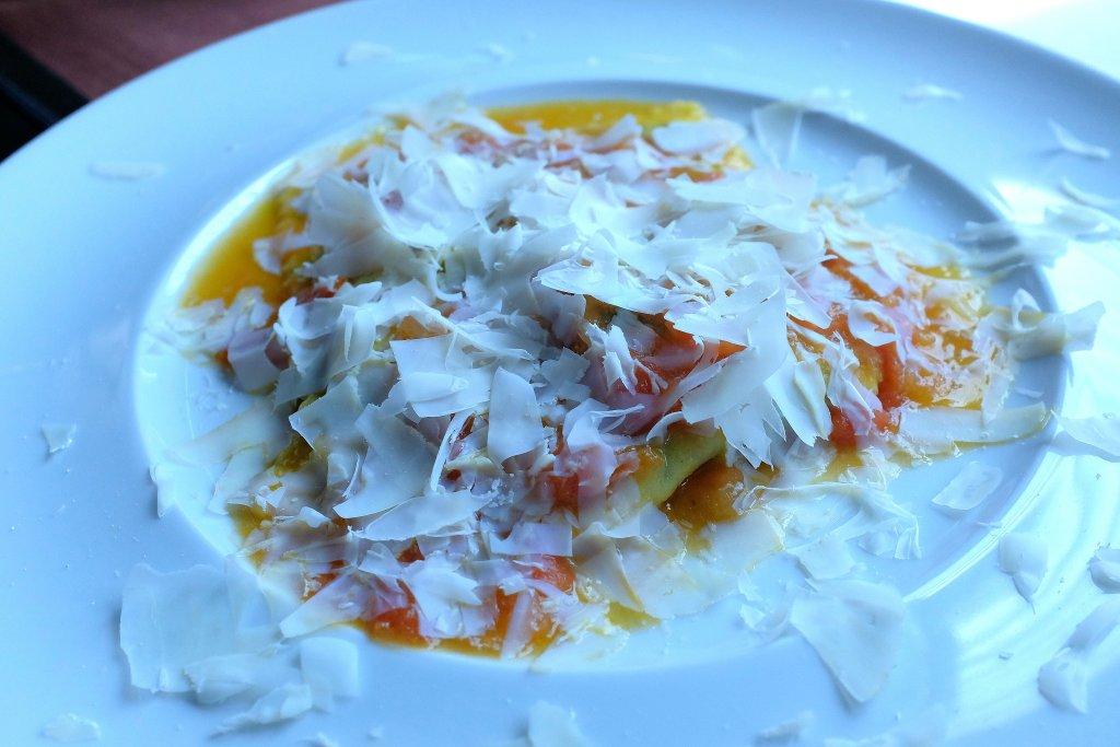 mattonella di ravioli al magro, 3UNO Ristorante, Chef Claudio Santin, Oleggio