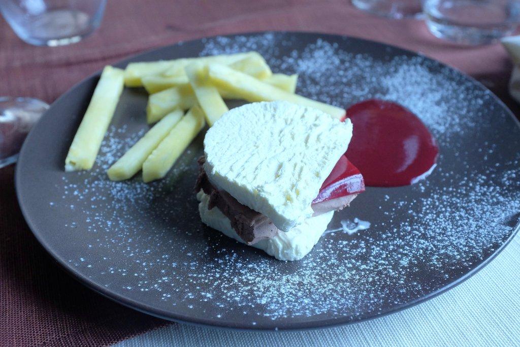 Hamburger e patatine, 3UNO Ristorante, Chef Claudio Santin, Oleggio