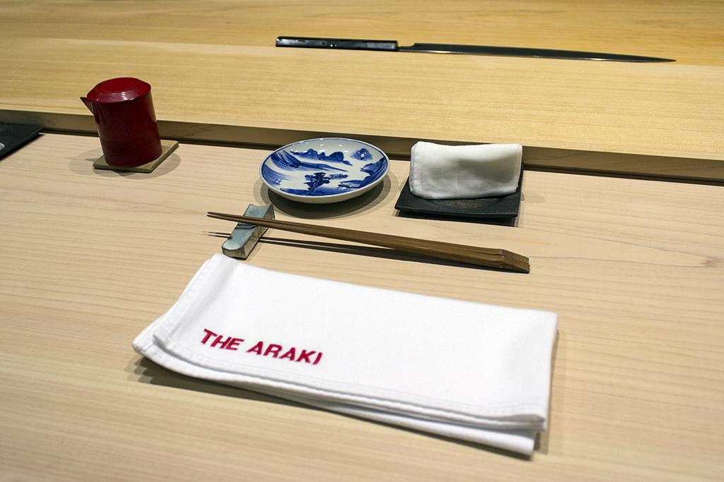 mise en place, The Araki, Chef Mitsuhiro Araki, London
