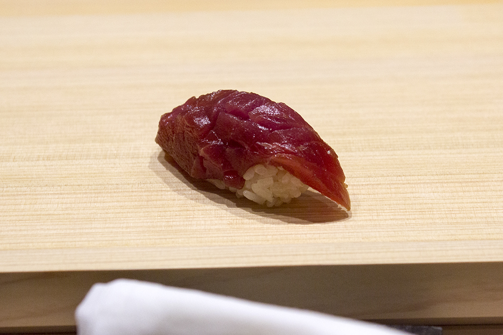 guancia di tonno marinata, The Araki, Chef Mitsuhiro Araki, London