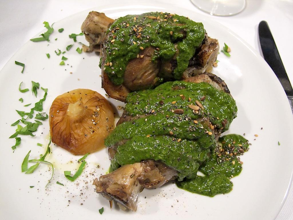 Stinco di maialino, Asino d'Oro, Chef Lucio Sforza, Roma
