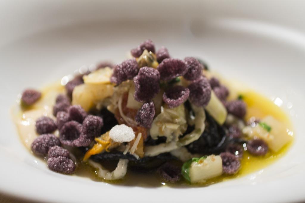 linguine di calamari, Le Calandre, Chef Massimiliano Alajmo, Sarmeola di Rubano, Padova