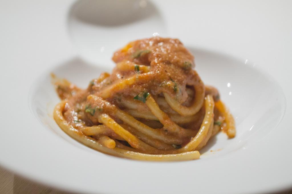 spaghetti con salsa di mosche, Le Calandre, Chef Massimiliano Alajmo, Sarmeola di Rubano, Padova