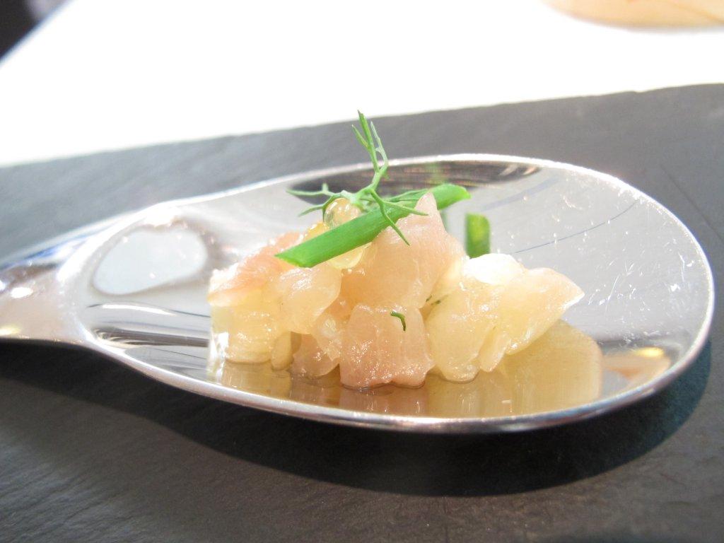 Tartare di salmerino, Essenza, Chef Eugenio Boer, Milano