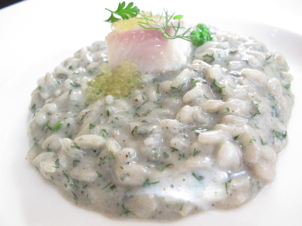 risotto alla cenere, salmerino, Essenza, Chef Eugenio Boer, Milano