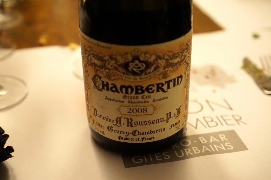 Chambertin 2008, Maison du Colombier, Chef Roland Chanliaud, Beaune, Francia