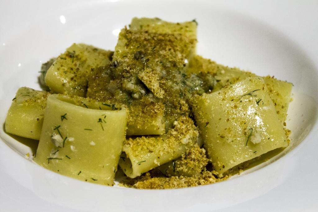 paccheri con ragù di pesce, Hotel Signum, Chef Martina Caruso, Malfa