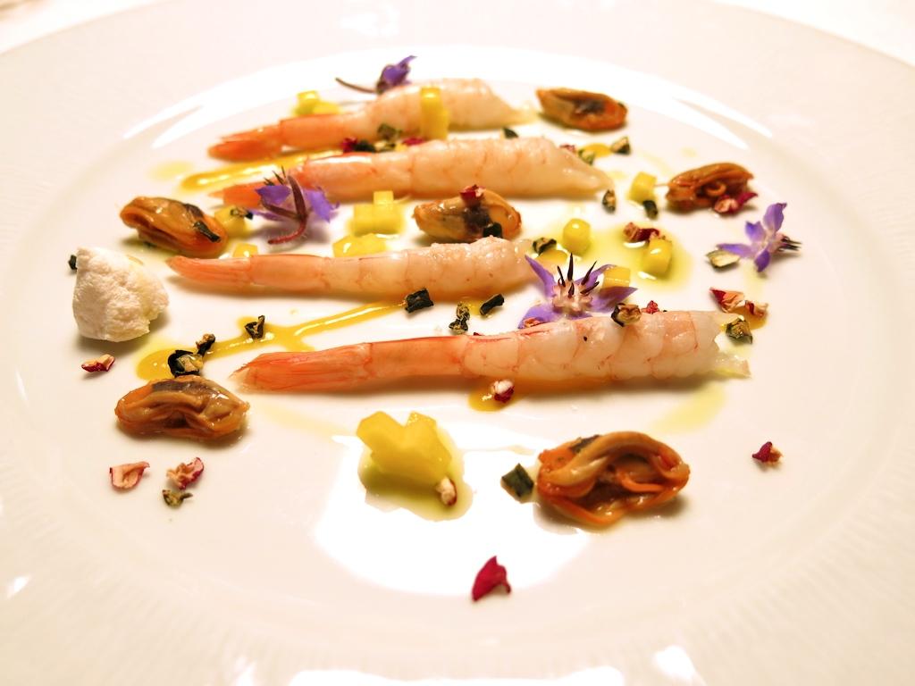 Gamberi bianchi, Casa Vissani, Chef Gianfranco Vissani, Civitella del lago, Baschi