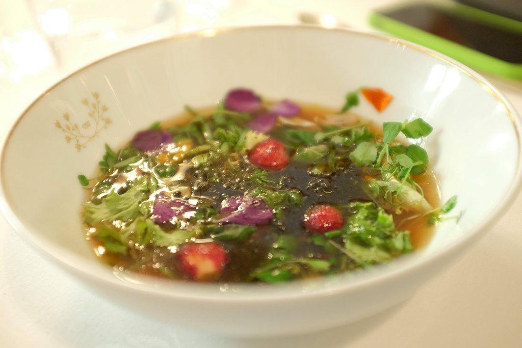insalata di fiori, Del Cambio, Chef Matteo Baronetto, Torino