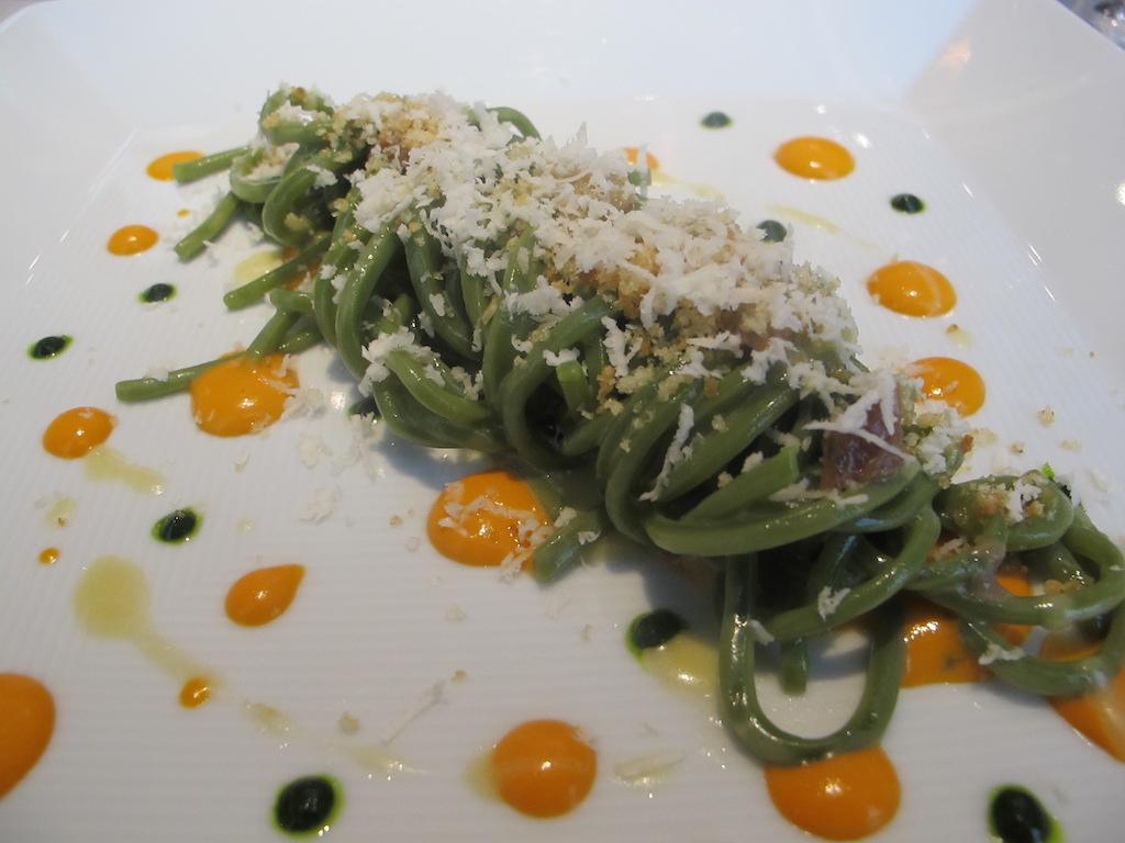 Spaghetto di Basilico, Perbellini, Chef Francesco Baldissarutti, Isola Rizza, Verona